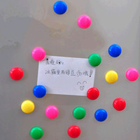 Wholesale 10pcs Multi colored cm circular magnetic refrigerator stickers home decorations magnets for kids room Memos paste free delivery