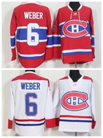 Wholesale Cord NHL Montreal Canadiens SHEA WEBER Lace Red White Hockey Jerse Stitched Mix Order