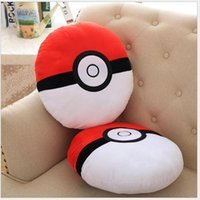 Wholesale 2016 Hot Anime Poke Poke ball Gamboy Embroidery Cos Plush Gift cm Pillow Cushion Soft PP Cotton Red Ball