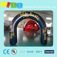Wholesale halloween site landscape layout props inflatbale black arches halloween supermaket road lead air arches opening advertising arches