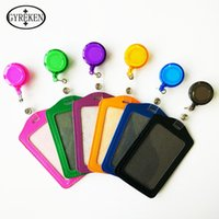 bank one credit - One from the grant Cheap Bank Credit Card Holders PU Card Bus ID Holders Identity Badge with Retractable Reel