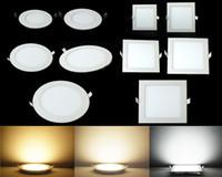 оптовых теплая панель-Led Down Lights Панельные светильники 3W 6W 9W 12W 15W 18W 24W Led Утопленные светильники Встраиваемые светильники Потолочный светильник Warm / Cool / Natural White # 25