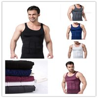 Wholesale New Sexy Girdles Body Shapers Comfortable Belly Shaper For Men Slimming Shirt Elimination Of Male Beer Belly Men Body Shapewear B0154