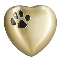 animal funerals - Pet Funeral Urn Cremation Urn for Pet Ashes Brass Fits the Cremated Remains and Ashes of Dogs Cats or other animals Paw Black Satin