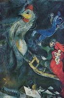 THE FLYING SLEIGH, 1945 by MARC CHAGALL, Высокое качество Подлинная Handpainted Абстрактная живопись маслом на холсте, настраиваемый размер