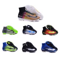 new model shoes - New original Explosion models Mercurial Superfly FG Soccer Shoes Soccer Cleats High Ankle Football Boots Soccer Boots Size
