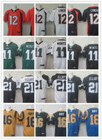 Wholesale 2016 Elite Mens Draft Pick Paxton Lynch Carson Wentz Ezekiel Elliott Jared Goff Laquon Treadwell Stitched football Jerseys