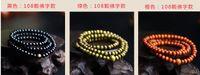 Wholesale 50pcs mm Genuine Natural Sandalwood Beads Buddha Malas Bracelet Healthy Jewelry Man Wrist Mala Neklace Bowknot Bracelets mix Colors