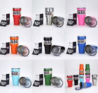 Wholesale 2016 colorful Tumbler Rambler Cups Yeti Coolers Cup oz Yeti Sports Mugs Large Capacity Stainless Steel Travel Mug