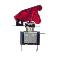 aircraft toggle switch covers - 5 v a pole spst control toggle switch on off pin blue red led light with cover auto motor aircraft switchs