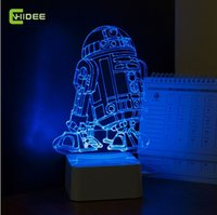 Wholesale Star Wars Lamp D Visual Led Night Lights for Kids Robot R2 D2 Touch USB Table Lampara as Besides Lampe Baby Sleeping Nightlight