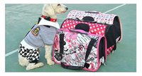 Wholesale D23 canvas pet bag dog carriers portable bag dog pack cat pack hand bag small dogs externide single shoulder bag
