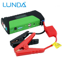 Wholesale Emergency Multi function Car jump starter High Power portable power bank Auto Start Jumper Police lights Life hammer USB DC port