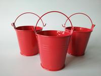 baby planter - Free s hipping multicolor CM Flower pots Planter pure garden bucket tin box Iron pots baby shower favors