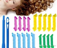 Wholesale 2016 Hot MAGIC LEVERAG Magic Hair Curler Roller Magic Circle Hair Styling Rollers Curlers Leverag perm With Retail Package