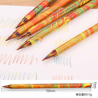 Wholesale Durable Pieces Without Wood Colored Pencils More Drawing Area in Color Graffiti Drawing Art Supplies Tool Papelaria