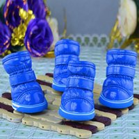 Wholesale Pet Puppy Winter Shoes for dogs Small Dogs Soft PU Leather Waterproof Warm Booties Boots