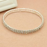Wholesale 2016 In Stock Cheap Elastic Row Rhinestone Pearl Wedding Bracelets Party Bridal Jewelry Women Party Evening Prom Bridal Accessories