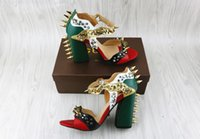 Wholesale Europe station summer new shoes bullet rivet word buckle sandals Roman sandals thick with super high heels shoes