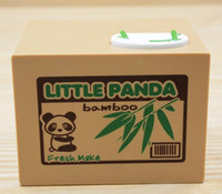 automatic coin bank - New Arrive Panda Automatic Stole Coin Piggy Bank x9 x9cm Size Money Saving Box Moneybox Gifts for Kids