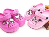 Wholesale Summer kids shoes girls shoes cute kitty hollow girls slippers kids non slip breathable beach shoes kids slippers girl