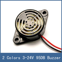 Wholesale 2 Colors New Wired High Decibel DB DC V Piezo Electronic Tone Big Sound Voice Buzzer Alarm Siren For Home Security System