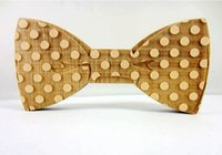 ascot tie for sale - Hot Sale European Fashion Personality Accessory Geometric Design Solid Good Wood Hip Hop Bow Tie For Men Butterfly Neck Tie