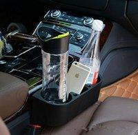 Wholesale 20pcs LJJL128 Multifunction car Seat Storage Organizer Black Car Cup Holder Drink Bottle Can Trash Dustbin Tissue Clip
