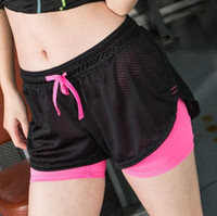 Wholesale Motion Speed Do False Paper Defence Malfunction Bodybuilding Tight Ventilation Yoga Elastic Shorts Bring Lin Polyester Fiber Di Guan