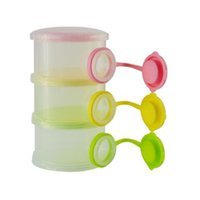 Bebé de tres portátiles al aire libre - tier leche caja de ahorros caja de latas de leche en polvo de alimentos caja de polvo de leche del bebé suministros
