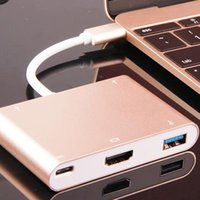 Wholesale USB C USB Type C to HDMI Digital AV USB OTG USB C Female Multiport Charger Adapter for Macbook quot DHL OTH227