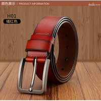 active cows - 2016 cowleather mens cow genuine leather luxury strap male belts for men colors male plate buckle cowhide
