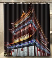 beijing architecture - Beijing China Chinese architecture x180cm Waterproof Polyester Custom Shower Curtain Bath Curtain
