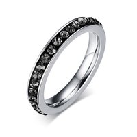 Wholesale Good Quallity Cute rings for women single row crystal wedding ring jewelry promotion