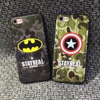 america apple - DHL new spot iphone7 case Captain America Superman camouflage Batman relief case