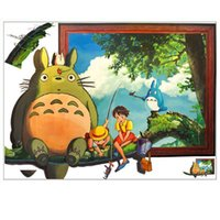 Wholesale My Neighbor Totoro Wall Sticker Cartoon Movie Wall Decals Art Wallpaper Kids Room Nursery Decoration TS232