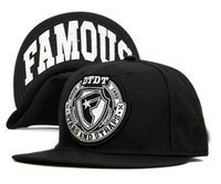 adjustable strap hats - Famous Stars And Straps Snapback men women s skateboard basketball adjustable hats hip hop bboy street caps in black and red