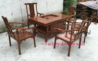 Wholesale 100 African Red sandalwood durable tables living room furniture coffee table natural lacquer craft desk and chairs