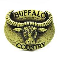 belt buckle buffalo - Bronze Buffalo Country Longhorn Rodeo Western Belt Buckle