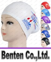 adult swimming caps - Waterproof Women swimming cap Silicone Long Hair Girls Swimming Caps swim hat for Lady With Ear Cup hight quality LLFA1059
