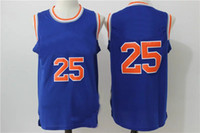 Wholesale 2016 Rose Jersey Basketball Jerseys New York Jersey New Blue And White Color Size S XXL Stitched Hot Jerseys Cheap Price High Quality