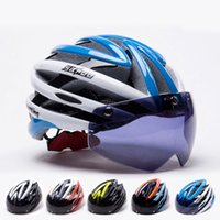 Wholesale New Design Insect Net Cycling Helmet Integrally molded MTB Bike Road Bicycle Goggles Safety Helmets With UV Visor