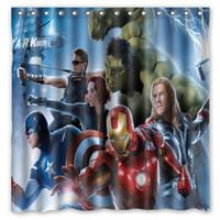 avengers curtains - Avengers Robert Downey Iron Man Tony Design Shower Curtain Size x cm Custom Waterproof Polyester Fabric Bath Shower Curtains