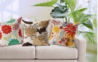 abstract body painting - Elegant tropical Beautiful flower art pattern pillow decorative pillows euro cover case arts popular abstract painting gift