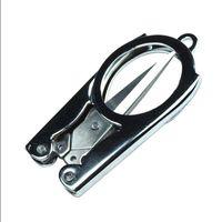 Wholesale Azerin Hot Sale Home Portable Folding Scissors Mini Folding Scissors Travel Scissors Color Silver