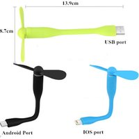 Wholesale 5V W Portable USB Mini Smartphone Fans for Iphone Android Mobile Phones PC Laptop
