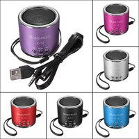 Wholesale Z12 Cylinder Portable Mini Speaker Amplifier FM Sound Music Radio HIFI Support USB Micro for SD TF Line in Card MP3 Player
