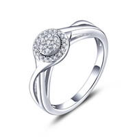 Wholesale Classic Vintage Wedding Engagement Ring Sterling Silver Rings with Cubic Stone for Ladies Party DL43020A