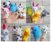 Wholesale Express Finger Puppets Plush Toy Talking Props Different Animals Set Toys For Baby Children