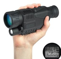 Wholesale 5x40 Infrared IR Digital quot LCD Monocular Zoom Night Vision Scope Video Photo H210781